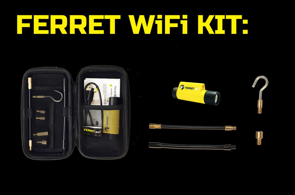 Ferret WiFi - Multipurpose Wireless Inspection Camera and Cable Pulling Tool KIT
